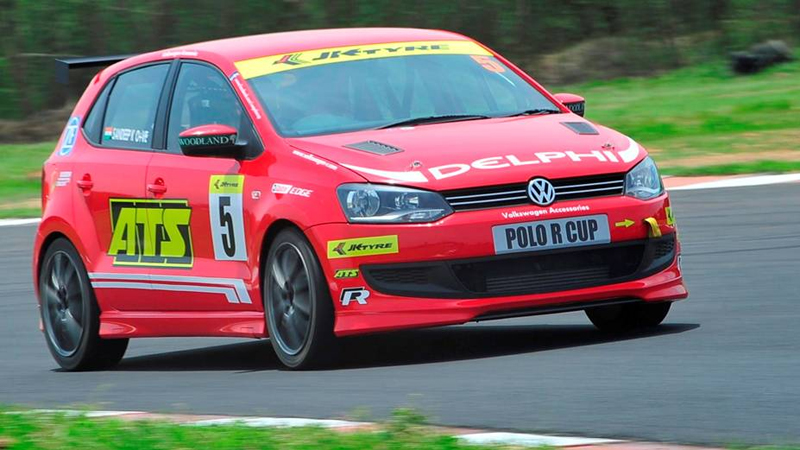 Volkswagen Polo R Cup 2012 Ameya bags the Race One of Round Three