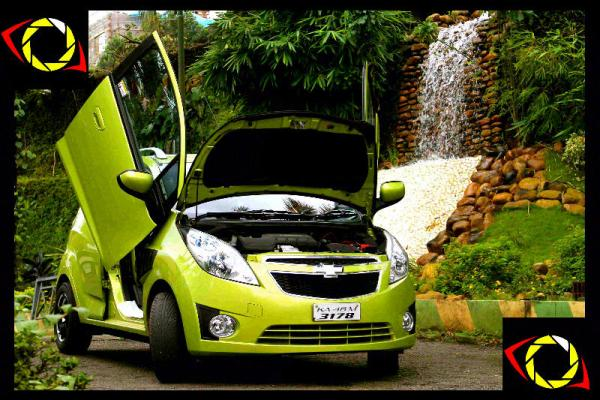 Chevrolet Beat with Lambo Doors exposed