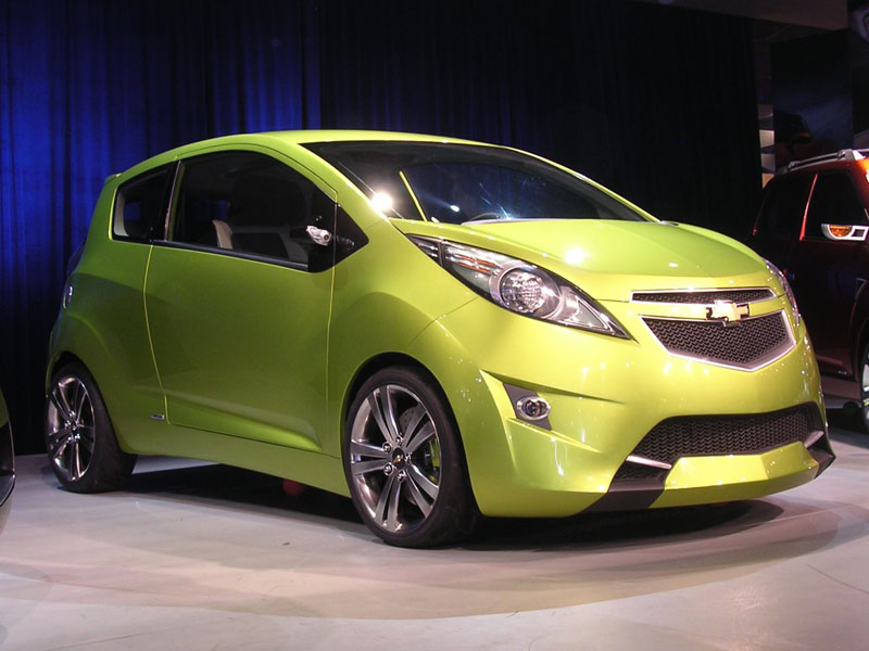 Facelifted Chevrolet Beat uncovered at the 2012 Paris Motor Show