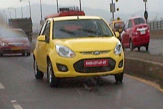 Ford Figo Facelift Spy Photos