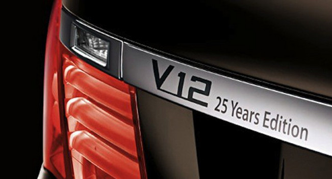 Limited Edition BMW 760Li to Celebrate 25 Years of BMW V12 Car Engines
