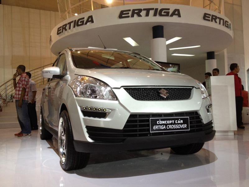 Maruti Suzuki Ertiga Compact Crossover displayed at IIMS