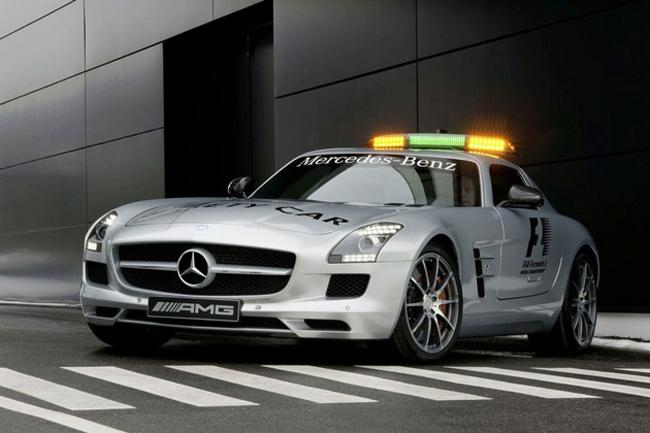 mercedes benz sls amg gt declared as the latest formula 1 safety car