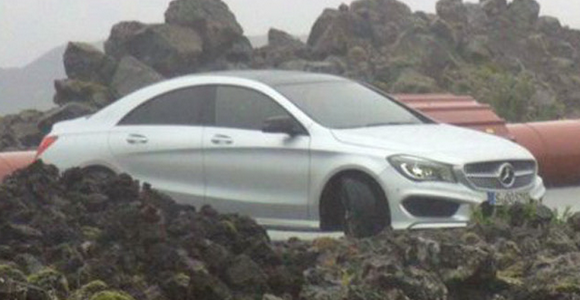 Mercedes CLA Spotted With No Camouflage in Iceland