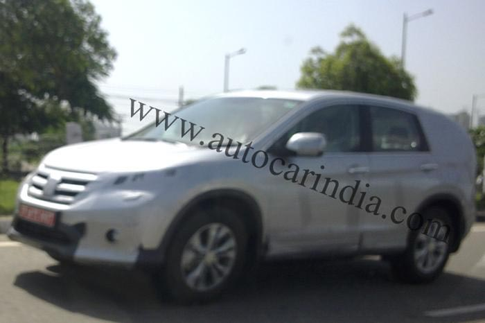 Next-gen Honda CR-V spotted in India