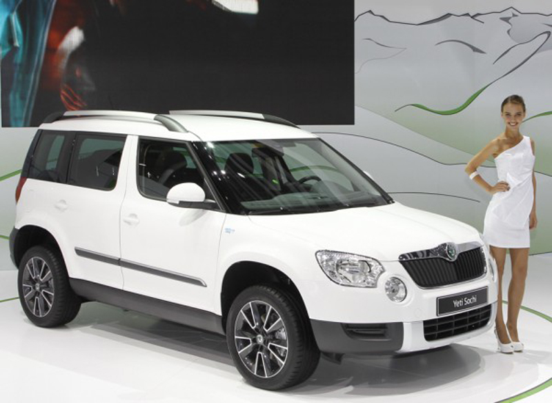 Skoda in Moscow Rapid Yeti Sochi uncovered Yeti 1.4 TSI DSG makes world debut
