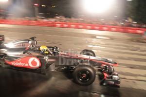 Lewis Hamilton sets Mumbai road on fire