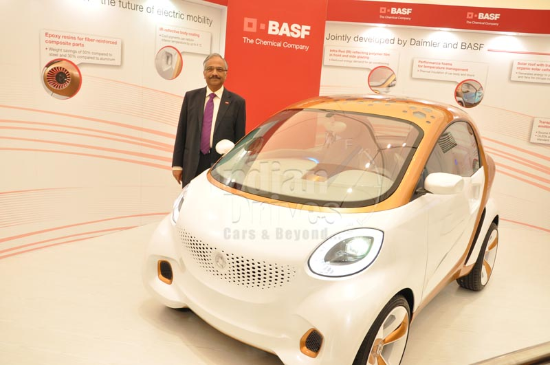 BASF reveals its 'Smart Forvision' concept car in India