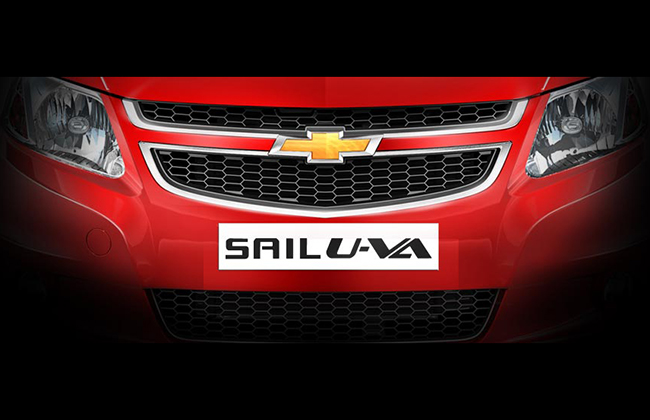 Chevrolet Sail U-VA Hatchback's teaser photo