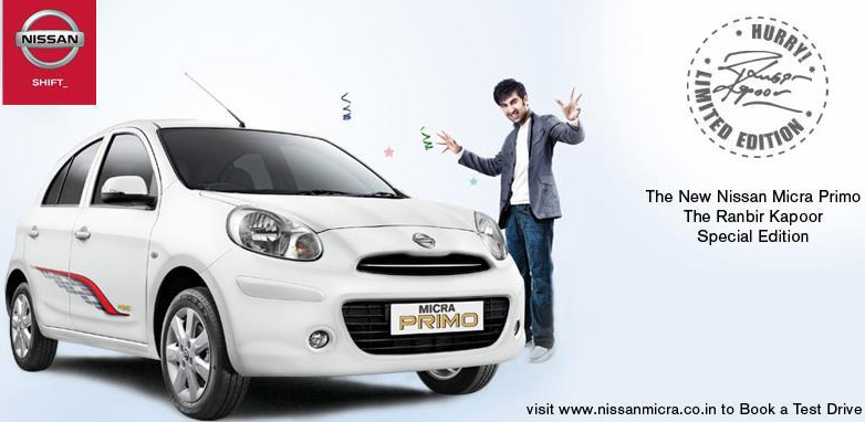 Nissan launches 'Micra Primo' Ranbir Kapoor special edition