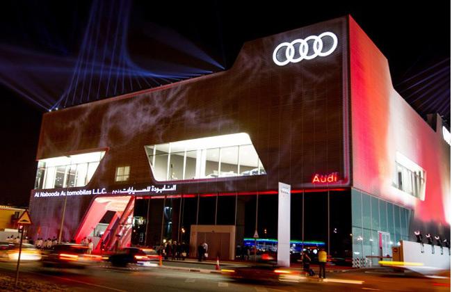 Audi opens world's largest Audi dealership at Dubai