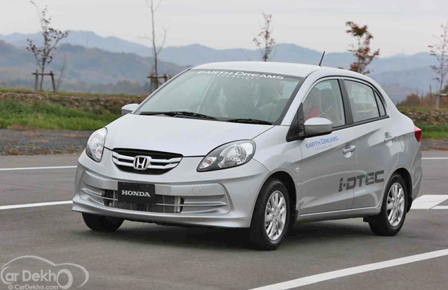 First Picture of the Honda Amaze Diesel Released