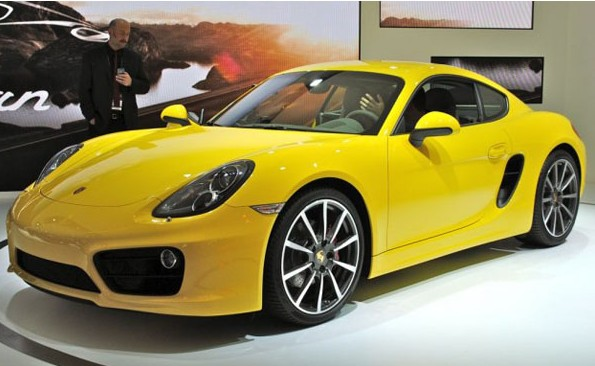 Porsche Cayman sports car disclosed at the 2012 Los Angeles Auto Show