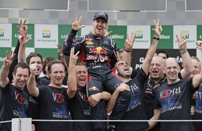Sebastian Vettel becomes the youngest F1 Triple Champion