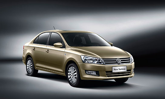 Second Generation VW Santana rolled out in China
