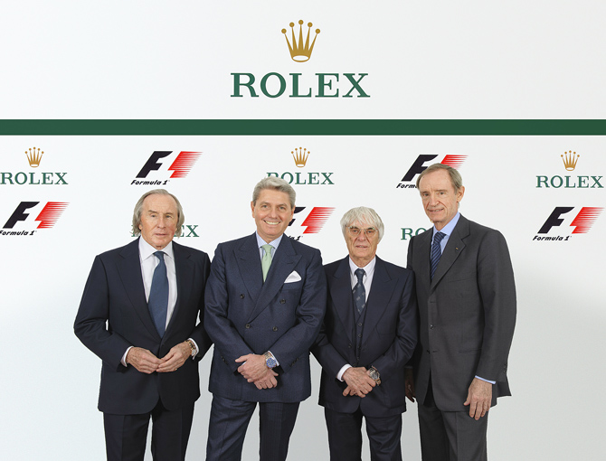 Rolex Inks Global Partnership with F1