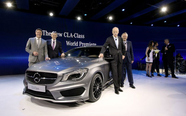 Daimler aims youth with compact Mercedes CLA coupe