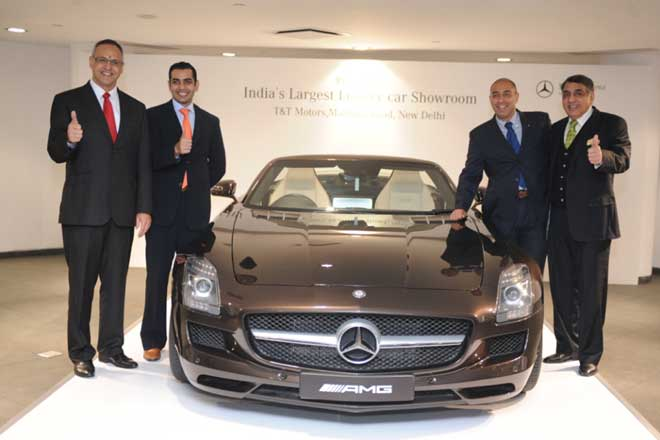 Mercedes Benz India reveals largest showroom in New Delhi