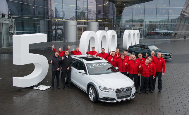 Audi Builds 5-Millionth Vehicle With Quattro