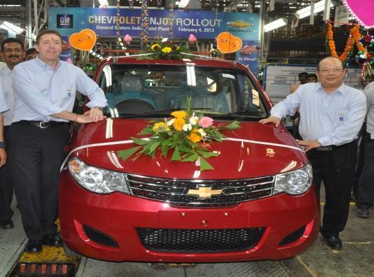 Chevrolet Enjoy MPV production