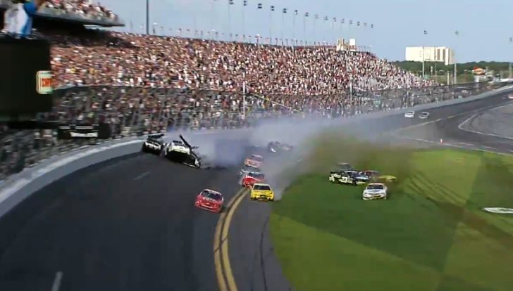 Daytona pile-up crash
