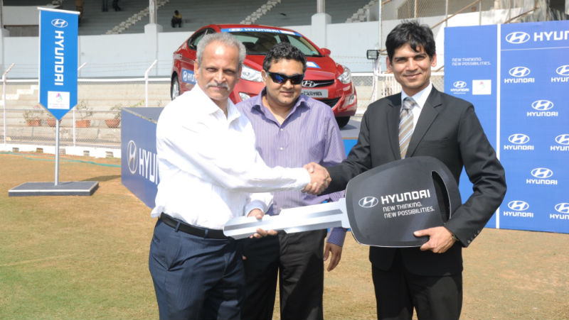 Hyundai hands over its fleet for the ICC Women's World Cup 2013