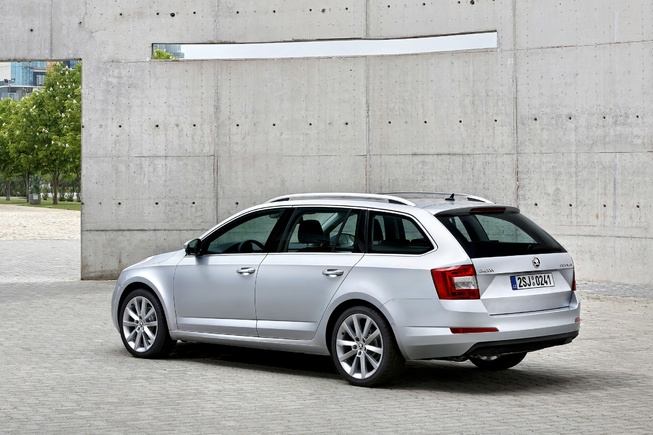 Skoda Octavia Back View