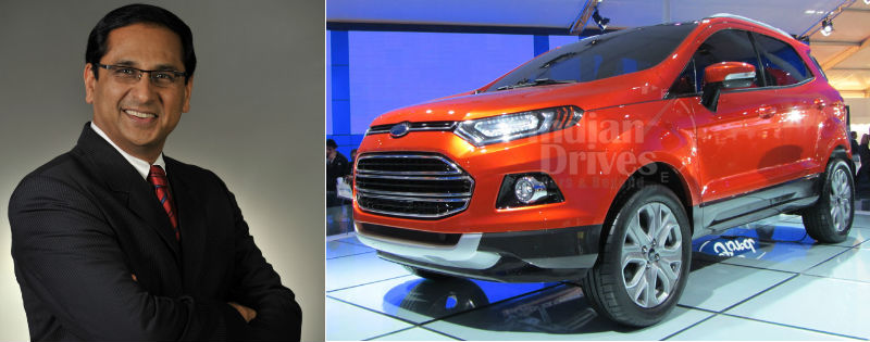 ford ecosport to be rolled out under the leadership of new executive director vinay piparsania. Black Bedroom Furniture Sets. Home Design Ideas