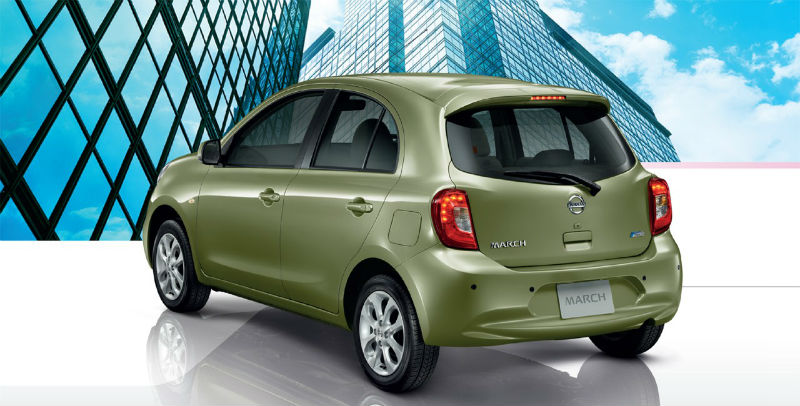 2013 Nissan Micra Facelift Back View
