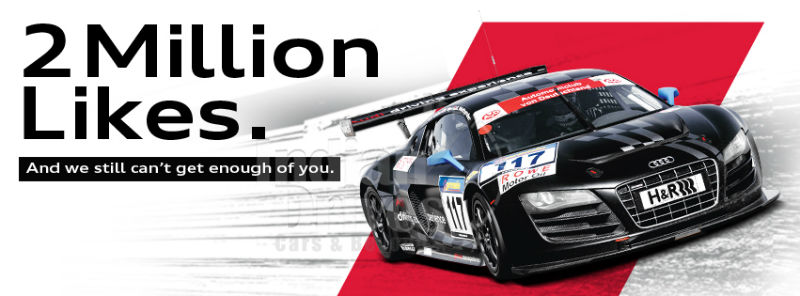 Audi India Facebook Page is Liked by 2000000 Fans