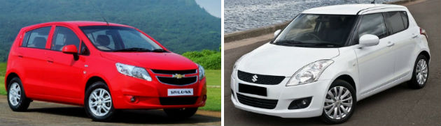Chevrolet Sail U-VA vs Maruti Suzuki Swift