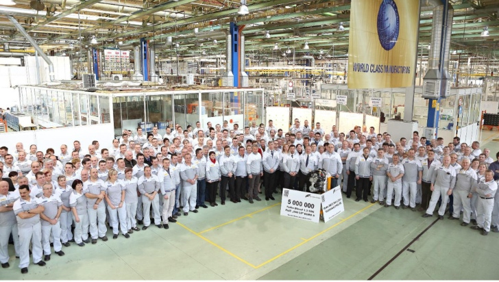 Fiat Builds Five Million 1.3 MultiJet Engines