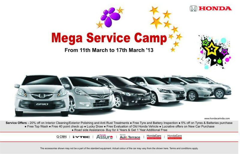 Honda Car's Mega Service Camp