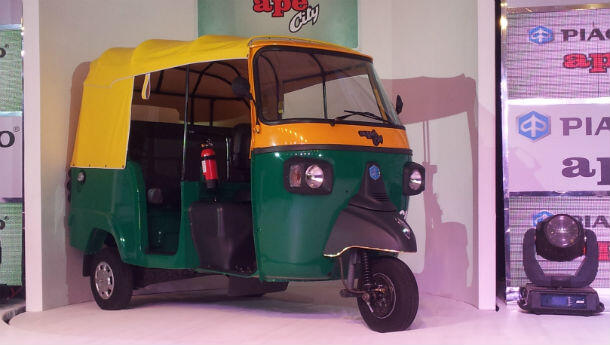 Piaggio India launches 2013 Ape City