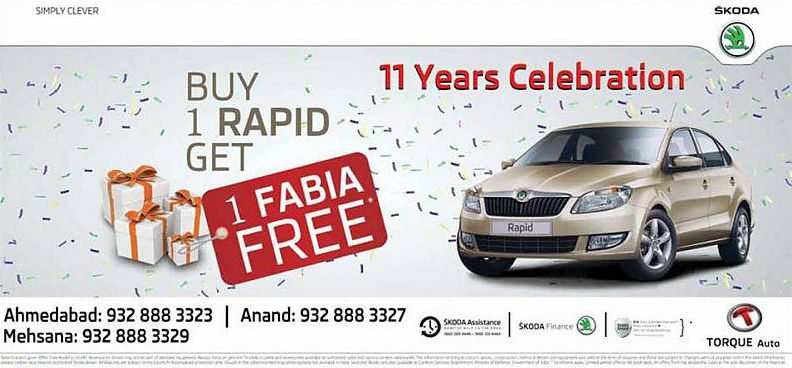 Purchase a Rapid and get a Skoda Fabia Free