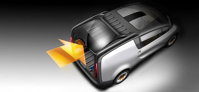 Tata reveals eMO-C electric van Back View