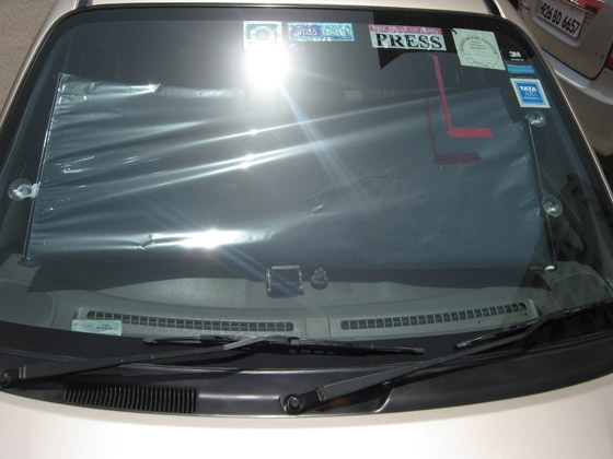 Tinted Windshield Roll