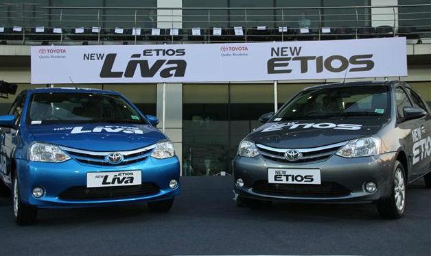 Toyota launches facelifted Etios and Etios Liva