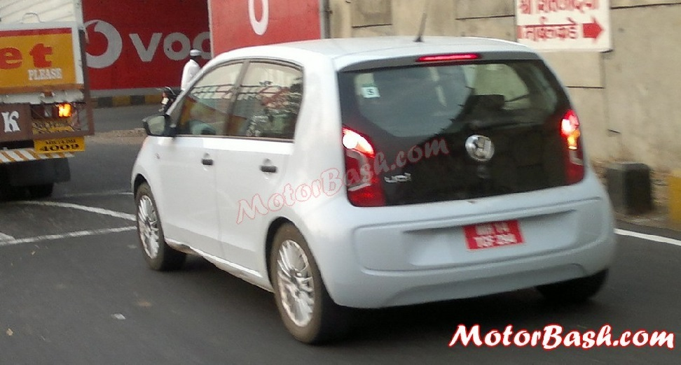 Volkswagen Up caught testing