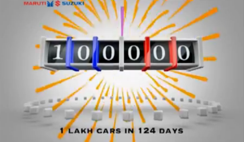 Over 1 lakh units of Maruti Alto 800