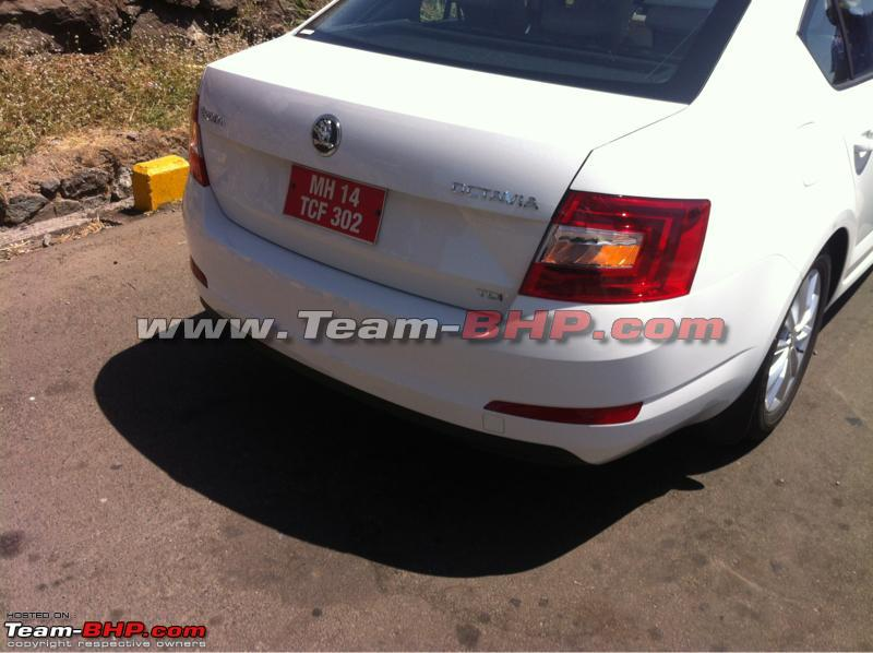 2013 Skoda Octavia spotted testing Back View