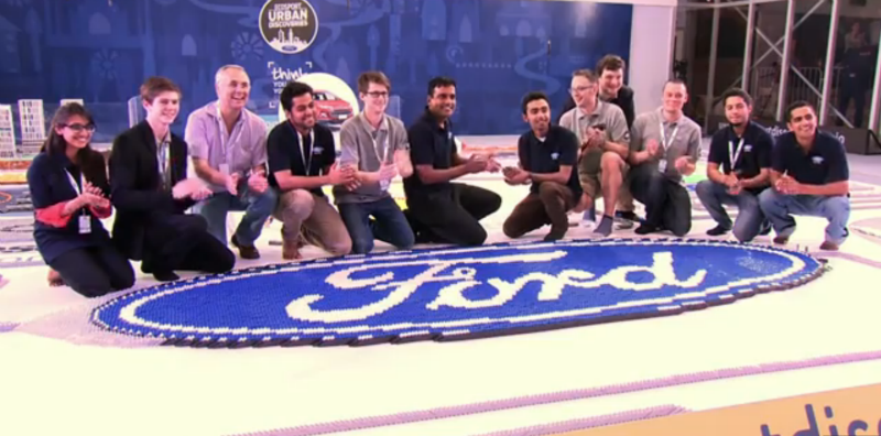 India's Biggest Domino Installation Made by Ford