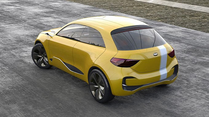 Kia Reveals Its Cub Concept Back View
