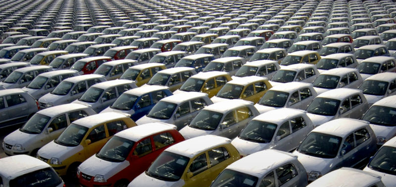 March Sales of Cars in India Fell by 22.51%