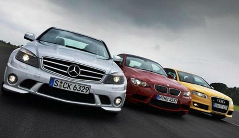 Mercedes Benz, BMW and Audi