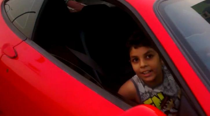 Spoiled Kid Drives a Ferrari