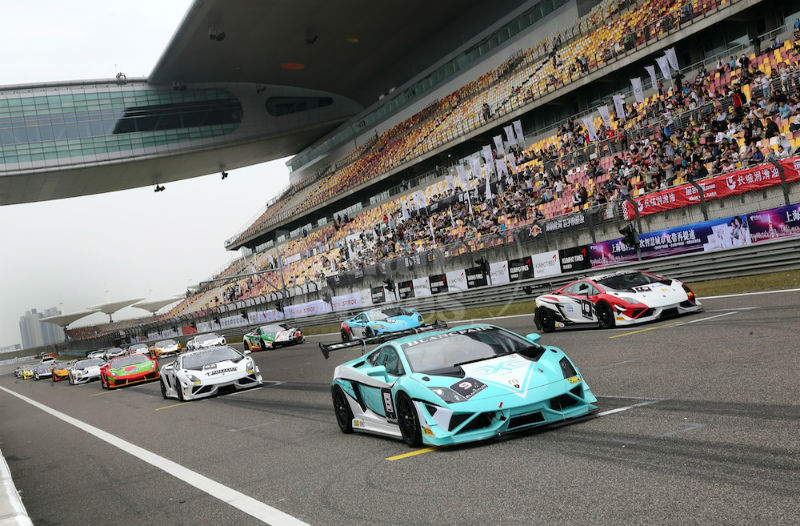 2013 Lamborghini Blancpain Super Trofeo Asia Series Shanghai Stop 2nd Race Kicks Off