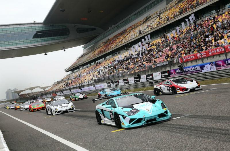 2013 Lamborghini Blancpain Super Trofeo Asia Series Shanghai Stop 2nd Race Kicks Off