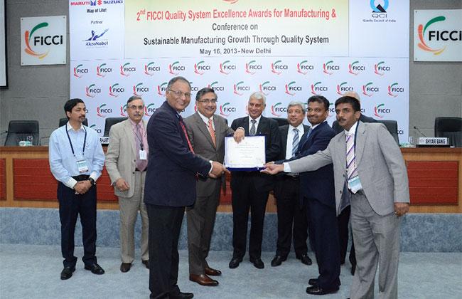 Apollo Tyres' Chennai Unit conferred