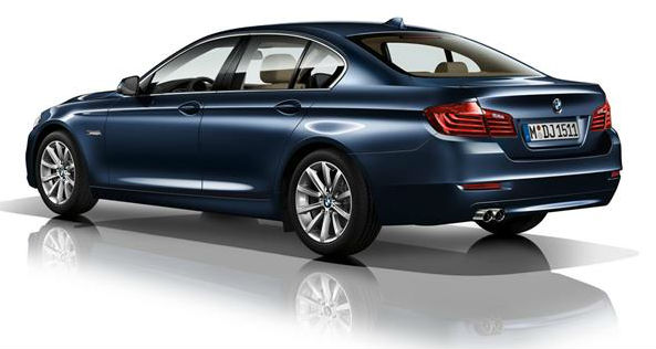 BMW reveals 5-series facelift Back View